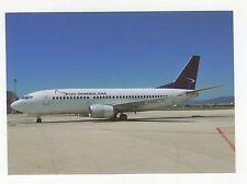 Air Dominicana B-737 at Palma de Mallorca Aviation Postcard, A637