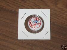 Original 1970's Team Logo Tin Litho Baseball pin # 23 New York Yankees