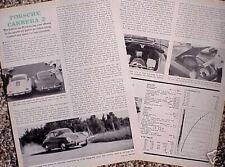 1962 62 Porsche Carrera 2 ORIGINAL Vintage Road Test  C MY STORE  5+= FREE SHIP