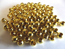 Gold Colored Spacer Beads. 6mm. Quantity 100.
