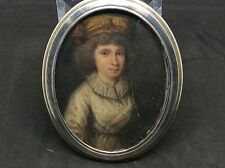 18th Century French Solid Silver Case Portrait Miniature A Lady c1760 Georgian