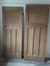 Antique art deco doors ebay reclaimed solid wood 1930s one over three panel doors sciox Images