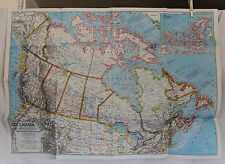 1972 National Geographic Canada Map / Ice Age Animals - 22 x 31 inches