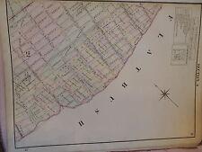 1874 original Beers Map Brooklyn Crown Heights East Flatbush Pigtown Rare !