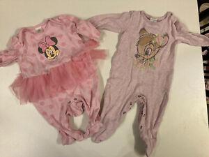Baby Girl 0-3 Months Long Sleeve Babygrow Disney