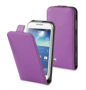 Housse Etui Coque Luxe (SLIM CUIR VIOLET) ~ Sony Xperia E