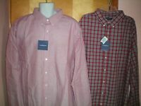 NWT NEW mens red black plaid CROFT & BARROW l/s easy care shirt $46 retail