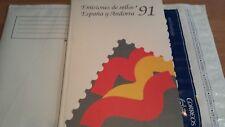 LIBRO OFICIAL DE CORREOS ESPAÑA 1991 COMPLETO SUPER OFERTA ÚNICA Y ESPECIAL**