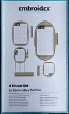 4 Hoops for Brother 6000D 6700D,Xv8500D Xv8550D Nq1400E Embroidery Machine