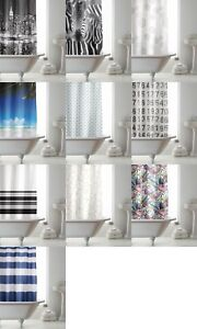 Modern New Designs Awesome HookLess Shower Curtains