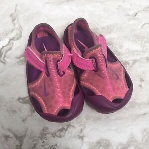 Nike Girls Infant Sunray Protect Pink Purple Water Shoes Sandals