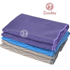 "Zoodey Anti Slip Dual-Grip Yoga Mat Towels Silica Gel Fitness Exersice 24""x72"""