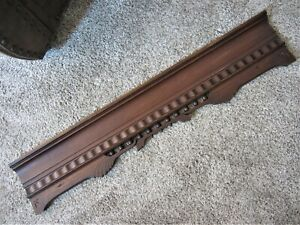 Tiger Oak Eastlake Fretwork Doorway Victorian Window Valance Furniture Pediment
