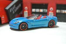 Hot Wheels - '14 Corvette Stingray Convertible - Blue - Loose - 1:64 - Exclusive