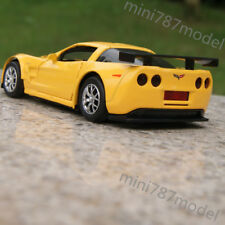 "Model Cars Chevrolet Corvette CR-6 5"" Toy Sound&Light Alloy Diecast Gifts Yellow"