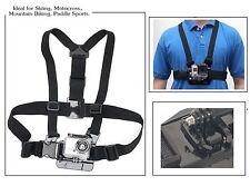 Adjustable Elastic Chesty Strap Harness Mount 4 GoPro HD Hero 1 2 + 3 Ways Base