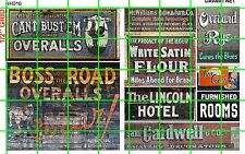 NH016 DAVE'S DECALS 1/2 Set N SCALE GHOST SIGNS DRY GOODS BOSS ROAD RYE