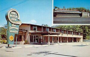 MA Quincy EDDIES DINER Retro & MOTOR INN 1959-64 Vintage MINT postcard A09
