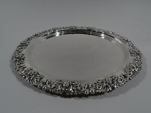 Tiffany Chrysanthemum Tray - 5766 - American Sterling Silver - 1892/1902