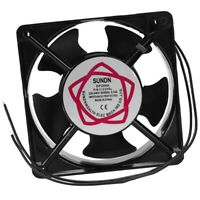 120x120x38mm 5 Blades Metal e Axial Flow Cooling Fan AC 220/240V 0.14A 22W L2E3