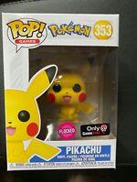 Funko Pop! Game Pokemon Flocked Pikachu Gamestop Exclusive #353