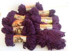 Lot Of 9 - Vintage Caron Heavy Rug Yarn- Grape #0016,