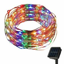 Outdoor Garden Solar Powered Copper Wire String Lights 200 LED 72ft 8 Waterproof
