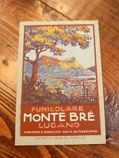 1920s Monte Bre Funicular Railway Travel Brochure Switzerland Swiss Incline RR