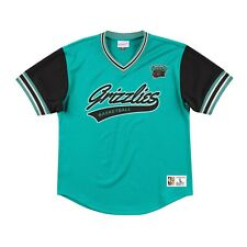 New MITCHELL & NESS Vancouver Grizzlies Teal MESH V Neck JERSEY NBA