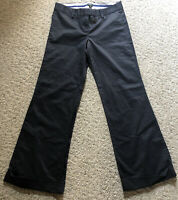 Women's J. Crew Stretch Size 6S Black City Fit Slacks Cotton Blend Dress Pants