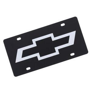 Chevrolet Bowtie Logo License Plate (Carbon Black)