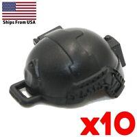 LEGO BK1X Minifigure Helmets Army SWAT Soldier Headgear Hat Military Lot x10 New