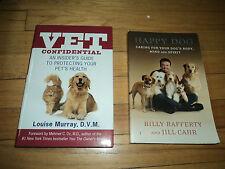 2 Dog Books Vet Confidential Murray Foreword Dr Oz & Happy Dog Body Mind Spirit