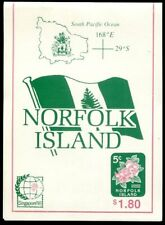 NORFOLK  ISLAND  585 - 586  Beautiful  Mint  NEVER  Hinged  BOOKLET   AG