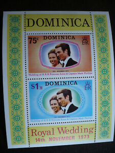 Stamps - Dominica - Scott# 373a - Souvenir Sheet of 2 Stamps