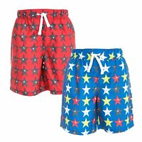 Trespass Hitter Boys Summer Shorts Hiking Casual Star Print with Inner Mesh Pant
