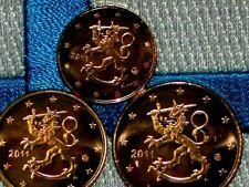Set Finlande 2011 Serie 1 2 5 Centime Lot 3 Pieces Euro Unc Qualite Premium