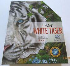 "Madd Capp I AM WHITE TIGER JIGSAW PUZZLE- -head shaped 300 piece 16"" X 16"""