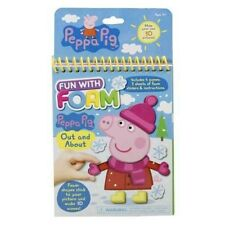 Peppa Pig Fun with Foam OUT AND ABOUT Children's DIY Activity Foam Playset Book