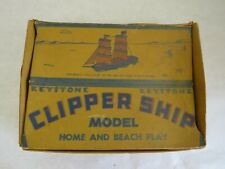 Vintage Keystone Clipper Ship Wooden Toy with Box