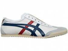 asics japan Onitsuka Tiger MEXICO SLIP-ON DELUXE 1181A145 White × Asics Blue