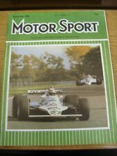 Nov-1980 Motor Racing Magazine: Motor Sport - Cover Image... Alan Jones Driving