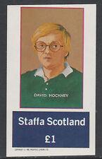GB Locals - Staffa 5016 - 1982 ARTISTS - D HOCKNEY  imperf souvenir sheet  u/m