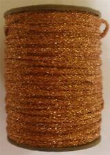 METALLIC TUBULAR RIBBON NATIONAL BRAID CRAFT SPOOL YARN BRONZE COLOR (G78)