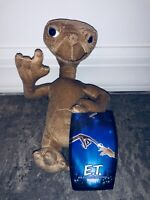 """8"""" New E.T. Extra Terrestrial Plush Doll Alien Movie ET Toy Factory Brown Movie"""