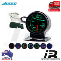 "52mm Water Temp Temprature Gauge 2"" ADDCO Racing Smoked Face 7 Colour + Sensors"