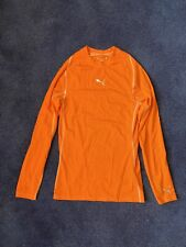 Men's Puma Long Sleeve Orange Baselayer Medium