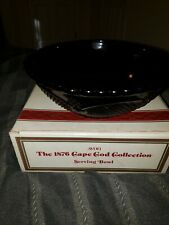 "Avon 1876 Cape Cod Ruby Red Glass Serving Bowl 8 1/2"" New in Box Nos"