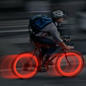 2 X Red Bike Bicycle Cycling Wheel Spoke Wire Tyre Bright LED Flash Light Lamp