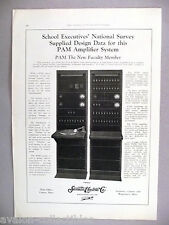 Samson Electric PAM Amplifier System PRINT AD - 1930 ~~ PA, Public Address